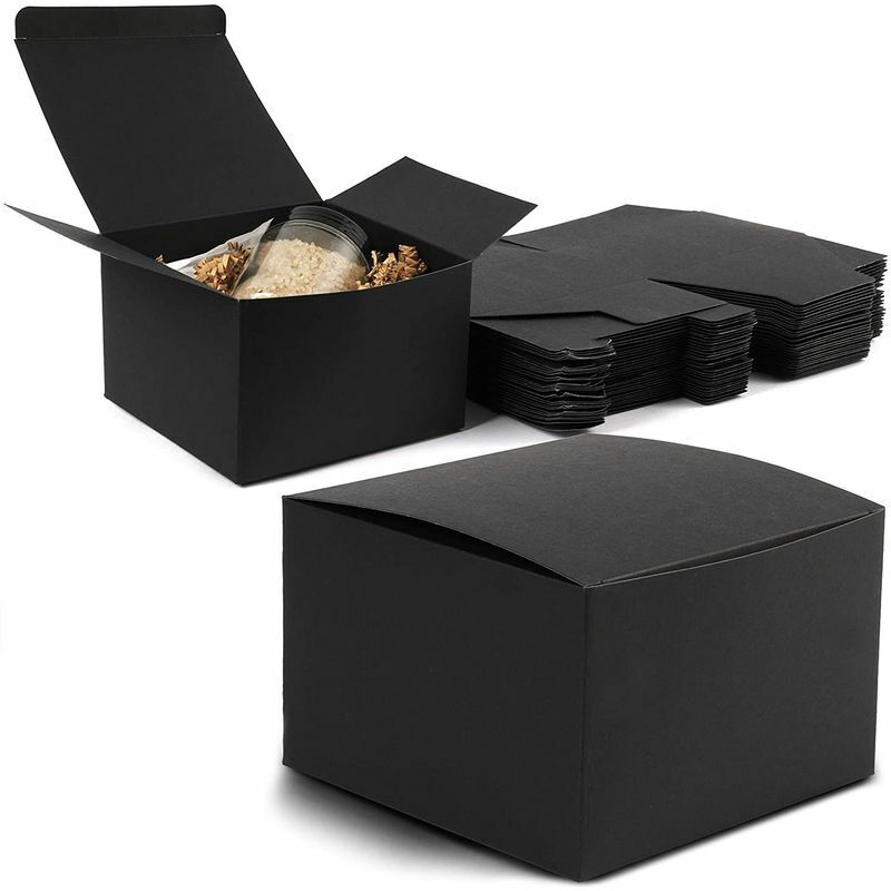 """30pcs Black 5.75""""x5.75""""x3.75"""" Cardboard Paper Gift Box with Lid for Party Favor"""