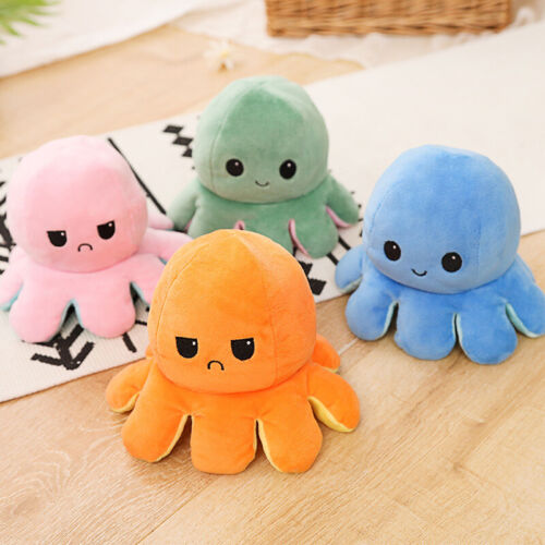 Octopus Plush Reversible Stuffed Doll Pillow Soft Simulation Doll Toys Gifts - $7.99