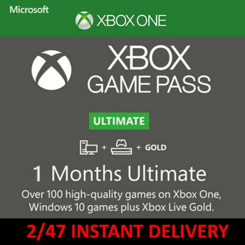 1 Month Game Pass Ultimate + Xbox Live Gold (2 x 14 Day Trial) Instant Delivery
