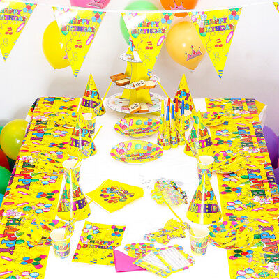 90 PCS Birthday Wedding Party Decor & Supplies Sets For Yellow Balloon US SHIP - Yellow Birthday Party Decorations