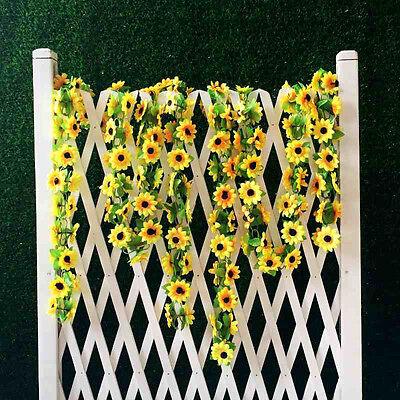 (Artificial Sunflower Garland Silk Flower Vine Wedding Fence Decoration$-$)