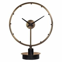 Uttermost Davy Modern Table Clock in Antique Brushed Brass