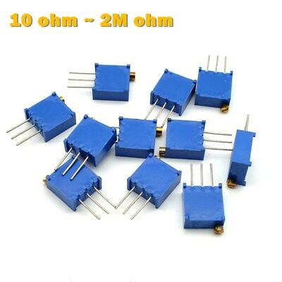 3296 Multiturn Variable Resistors - Potentiometer Preset Trimmer Pot