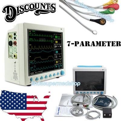Contec Cms8000 Icu Vital Signs Patient Monitor Lcd 6 Parameters 12.1 Fda Ce New