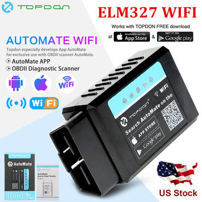 ELM327 WIFI OBD2 Scanner Auto Diagnostic Interface Code Reader For Android iOS