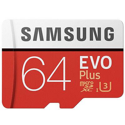Samsung EVO+ 64GB microSDXC Card 2017 100MB/s + Adapter NEU