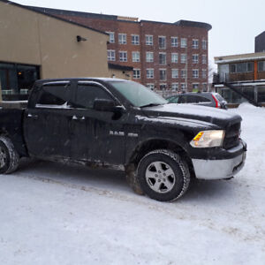 2010 Dodge Power Ram 1500 Slt Pickup Truck and Plow.
