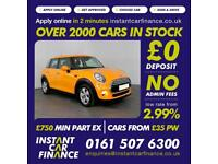 Mini Mini Cooper Hatchback 1.5 Manual Petrol GOOD / BAD CREDIT CAR FINANCE