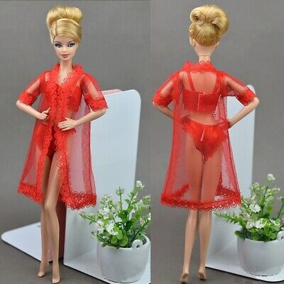 Lingerie Nightwear Barbie Dolls Clothes Fashion Outfit Dress X-mas Gift Girl Toy