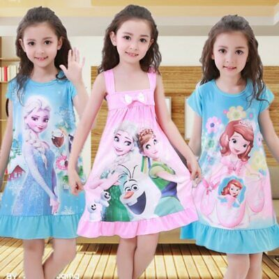 Summer Girls Dress Snow Queen Anna Elsa Olaf Princess Dresses for Girls Birthday
