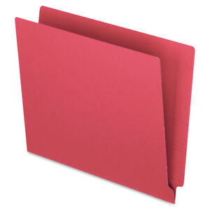 "New box of 100 Red Pendaflex 8.5"" x11"" End Tab Folders + more"