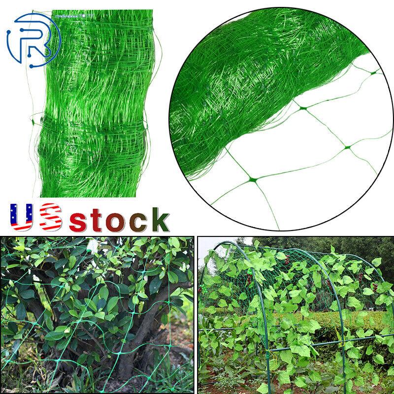 NEW Green Durable Long Plastic Trellis Netting for Climbing Plants USA