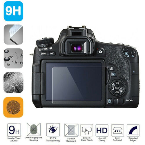 Tempered Glass Camera LCD Screen HD Protector Cover for Canon 70D/700D