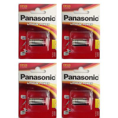 4 Pack Panasonic CR123A CR123 123 K123A 3V Lithium Battery 2025 DATE
