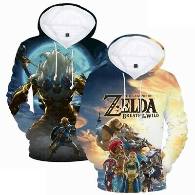 The Legend of Zelda Herren Langarm Hoodie Kapuzenpullover - Legends Of Zelda Kostüm