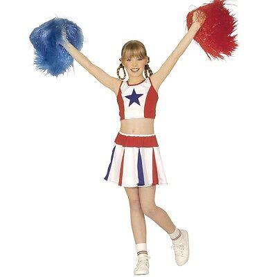 CHEERLEADER KOSTÜM USA Mädchen Gr. 140  Kinderkostüm Fasching Show Cheer - Cheer Leader Kostüm