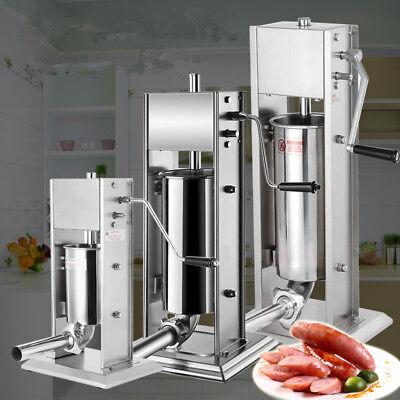Vertical Sausage Stuffer Filler Meat Maker Machine Stainless Steel Manual