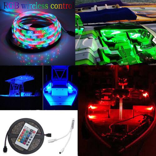 Wireless Waterproof LED Strip Light 16ft For Boat / Truck / Car/ Suv / Rv RGB