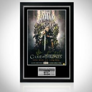 GAME OF THRONES 'THE IRON THRONE' Signed Poster Custom Frame