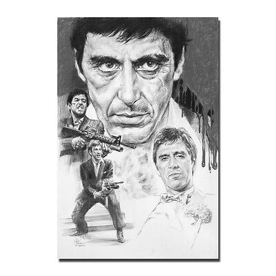 Al Pacino Scarface Movie Amazing HQ Wall Silk Poster 13x20 24x36 inch-1