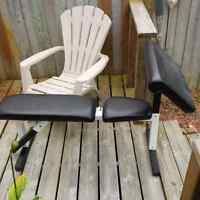 Weight bench, dumbell weights and dumbell weight stand for sale