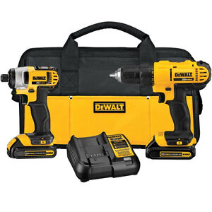 DEWALT 20V Lithium Cordless Drill/Driver and Driver Combo Kit