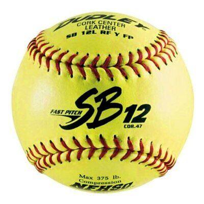 "Dudley Leather 47/375 NFHS 12"" Faspitch Softball dozen 4H311Y"