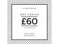 Web design, development and SEO from £60 - UK website designer & developer