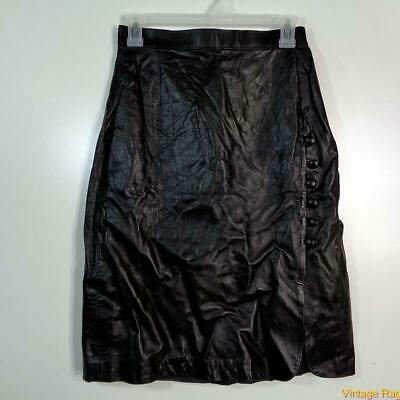 Sexy Soft Leather Skirt Size S Black