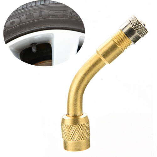 90 Degree Brass Air Tyre Extension Valve Motorcycle Car Truck Bicycle Scooter V!