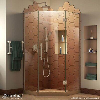 Prism-X Neo Angle Shower Enclosure 38 x 38, Br.Nickel, OR Bronze, Satin Black Dreamline Neo Shower Enclosure