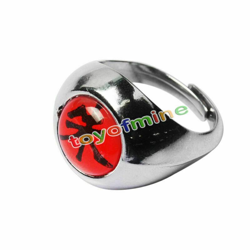 Naruto Akatsuki Uchiha Itachi Zhu Ring Metal Alloy Cosplay Gift 1.9 cm US