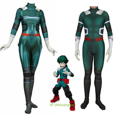 Anime Costume For Men (Women Men Anime My Hero Academia Midoriya Izuku Cosplay Costume Bodysuit)