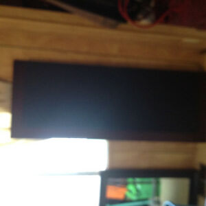 Leather and wood headboard