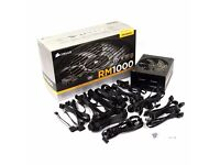 RM1000i Corsair 1000W Fully Modular Power Supply (80+ Gold Certified). Boxed with warranty