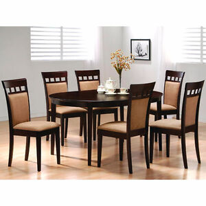 """BRAND NEW !! CONTEMPORARY, OVAL SHAPE 5 Pc DINING SET W/18"""" LEAF"""