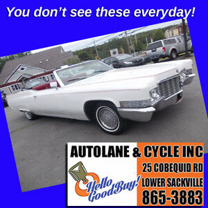 1970 Cadillac Coupe Convertible A REAL SLED! Drop top and go!