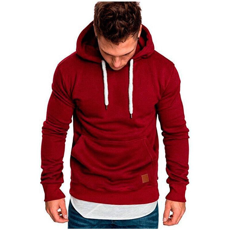 Men Winter Hoodie Slim Hooded Sweatshirts Sport Sweater Pullover Jackets Outwear