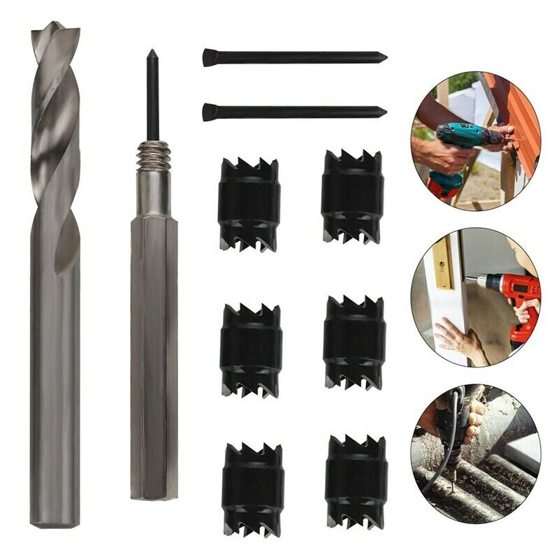 """3//8/"""" 5//16/"""" Double Sided Rotary Spot Weld Cutter Remover Drill Bit Welds Set LA1"""