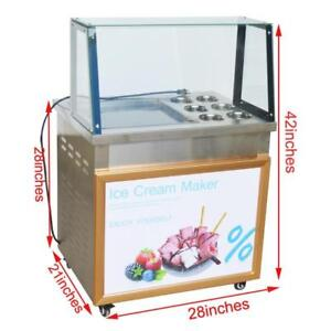 Commercial Ice Cream Maker Fried Ice Cream Machine 110V open box 220358