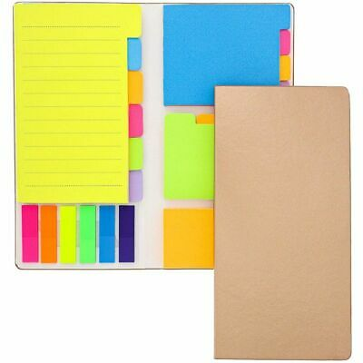 2 Pack Neon Colored Sticky Notes Page Marker Tabs Index Dividers Notebook 8x4