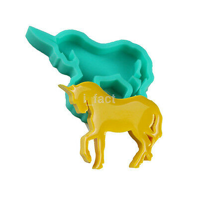 Home Unicorn Horse Shape Melted Chocolate Silicone Mold Fondant Baking Mold CA