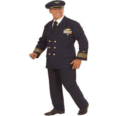 PILOT Gr. 48/50 (M) CHEFPILOT Herren Anzug Pilotenkostüm Flieger Kostüm (Pilot Anzug Kostüme)