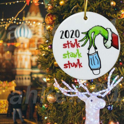2020 stink stank stunk ornament – Grinch Christmas funny ornament Xmas Gift US Holiday & Seasonal Décor