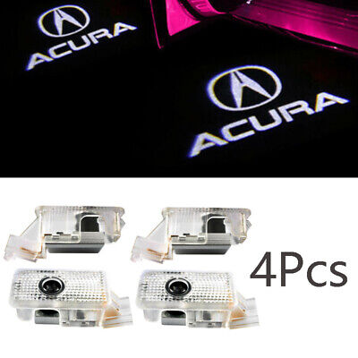 New Stock -  4x Car Door LED Logo Projector Shadow Lights Welcome Lamp for Acura