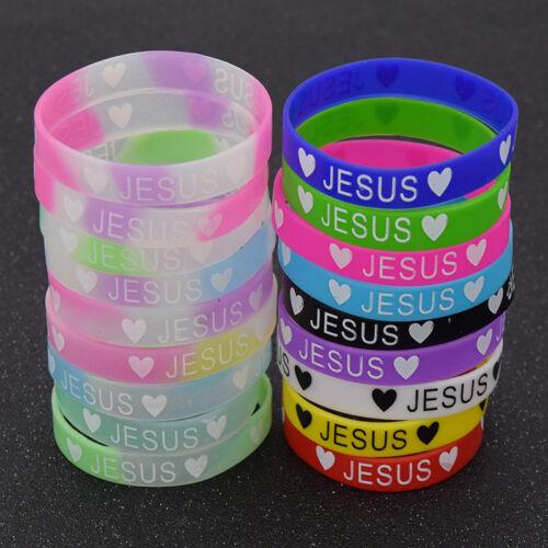 Armreif Bunt Jesus Religiös Fluoreszenzlicht Armband Fluoreszenz Unisex Zufällig