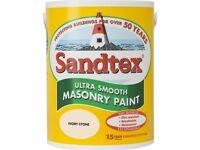 Sandtex Ultra Smooth Masonry Paint 5L Ivory Stone