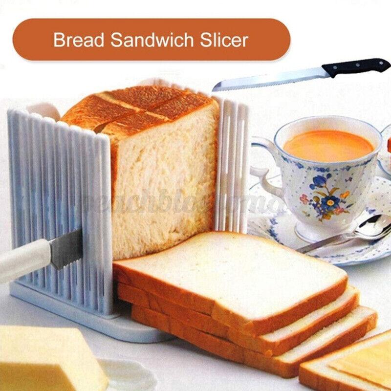 Bread Slicer Toast Cutting Loaf Sandwich Cutter Mold Kitchen Bread Maker