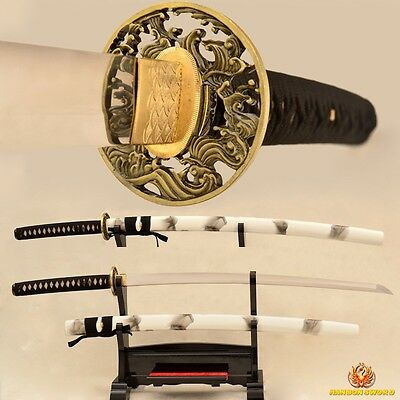 Samurai Katana Sword Handmade Japanese 9260 Spring Steel No-Hi Blade Very Sharp for sale  China