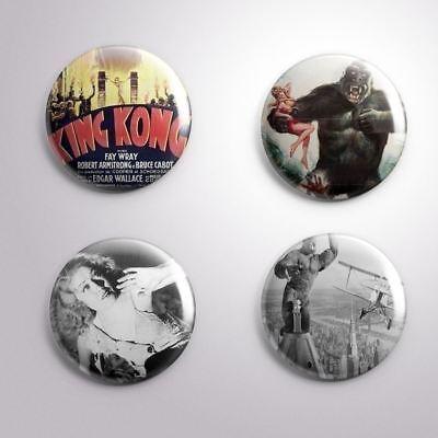 4 KING KONG FAY WRAY EMPIRE STATE BULDING  -Pinbacks Badge Button 25mm 1'' (Empire State Bulding)